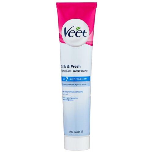 Veet Крем для депиляции для чувствительной кожи с Алоэ вера и витамином Е 200 мл крем от растяжек с витамином е