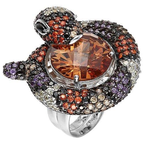 Фото - JV Кольцо с фианитами из серебра PR120175A-001-WG, размер 17 jv кольцо с ониксами и фианитами из серебра pr150002b ox 001 wg размер 17