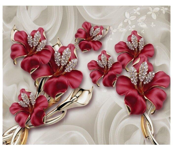 Фотообои флизелиновые Design Studio 3D Драгоценные лилии 3х2.5м