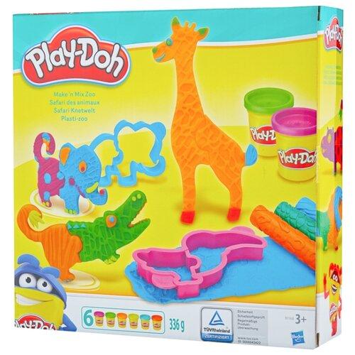 Купить Масса для лепки Play-Doh Веселое Сафари (B1168), Пластилин и масса для лепки