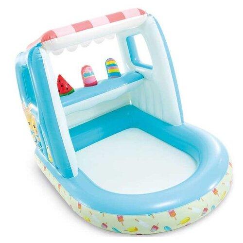 Детский бассейн Intex Ice Cream Stand Playhouse (48672) голубой/белый/красный