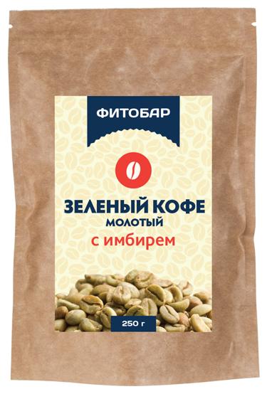 Соик Зеленый кофе молотый с имбирем, 250 г