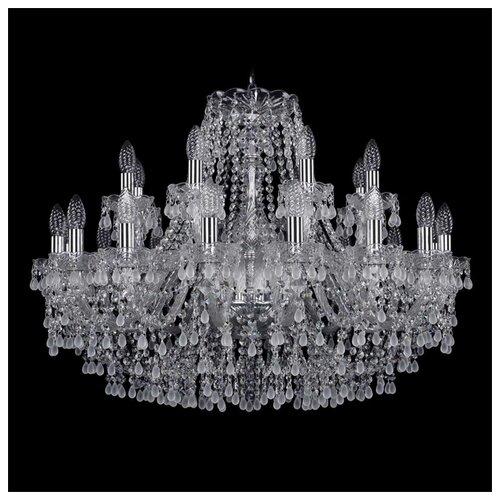 Люстра Bohemia Ivele Crystal 1410/16+8/300/Ni/V0300, E14, 960 Вт bohemia ivele crystal 1410 6 160 ni v0300 sh2