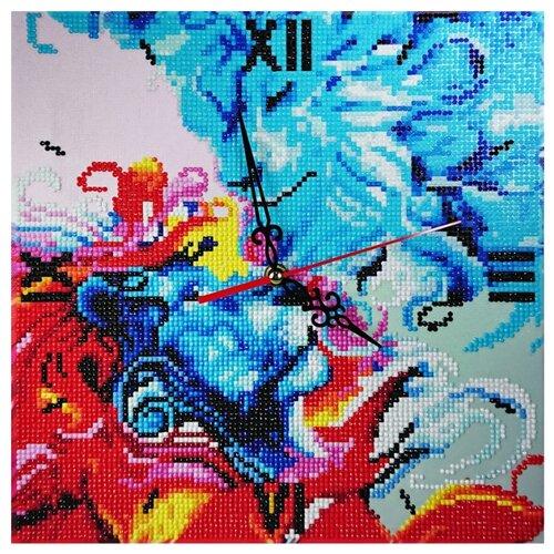 Color Kit Набор алмазной вышивки с часовым механизмом Две стихии (7303013) 30х30 см
