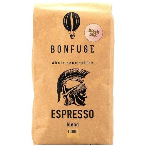 Кофе в зернах Bonfuse Black Silk, арабика/робуста, 1 кг кофе в зернах bonfuse asia арабика 250 г