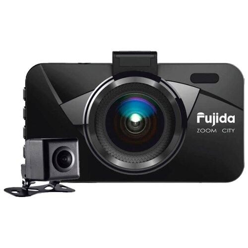 Видеорегистратор Fujida Zoom City, 2 камеры черный