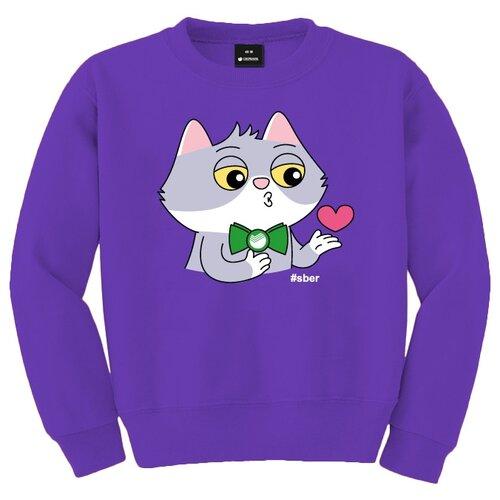 Свитшот детский Сберкот поцелуй размер 104/28, фиолетовый свитшот детский сберкот кино размер 104 28 белый