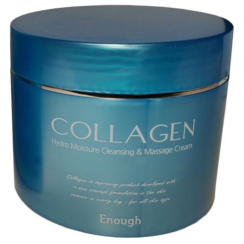 Enough Collagen Hydro Moisture Cleansing and Massage Крем для лица массажный с коллагеном, 300 мл гирудотонус крем массажный