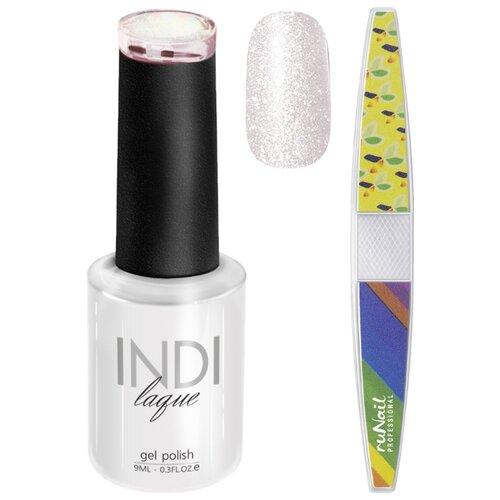 Набор для маникюра Runail пилка для ногтей и гель-лак INDI laque, оттенок 3579 набор для нейл арта пилка для ногтей runail professional гель лак indi laque тон 3708 9 мл