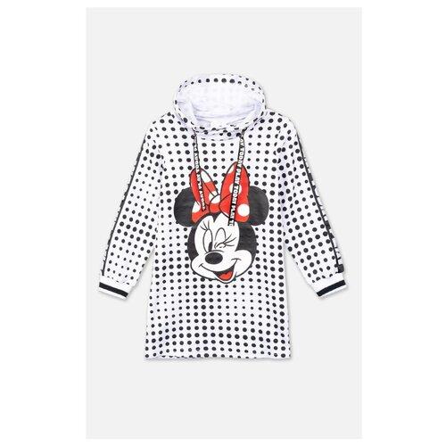Купить Платье playToday размер 134, белый/черный/красный, Платья и сарафаны