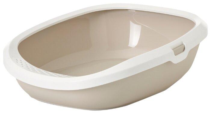 Туалет для кошек SAVIC GIZMO с бортом, 44см, голубой (0,5 кг)