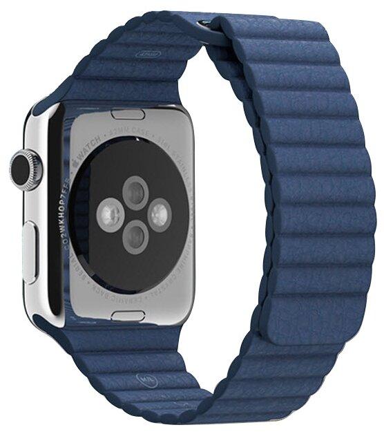 Karmaso Ремешок для Apple Watch 42 мм кожаный синий