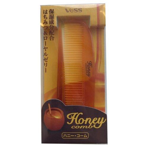 VESS Расческа для увлажнения и придания блеска волосам с мёдом и маточным молочком пчел vess щетка массажная для увлажнения и придания блеска волосам с мёдом и маточным молочком пчел 721113