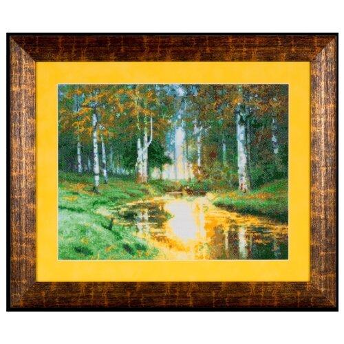 Фото - Ажур Набор для вышивания крестиком Золотая осень Тихая речка 35 х 27 см (0017) ажур набор для вышивания крестиком цветущий кактус 26 х 17 см 0010