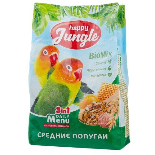 Happy Jungle Корм Daily Menu для средних попугаев 500 г