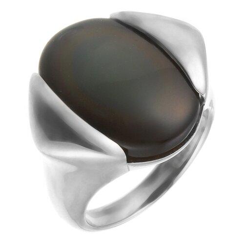 цена на JV Кольцо с обсидианом из серебра NRI289-RO-OB-WG, размер 16.5