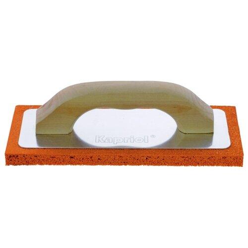 Тёрка для шлифовки штукатурки с губкой Kapriol 23047 240x100 мм терка штукатурная kapriol с мелкой губкой 14 см х 21 см