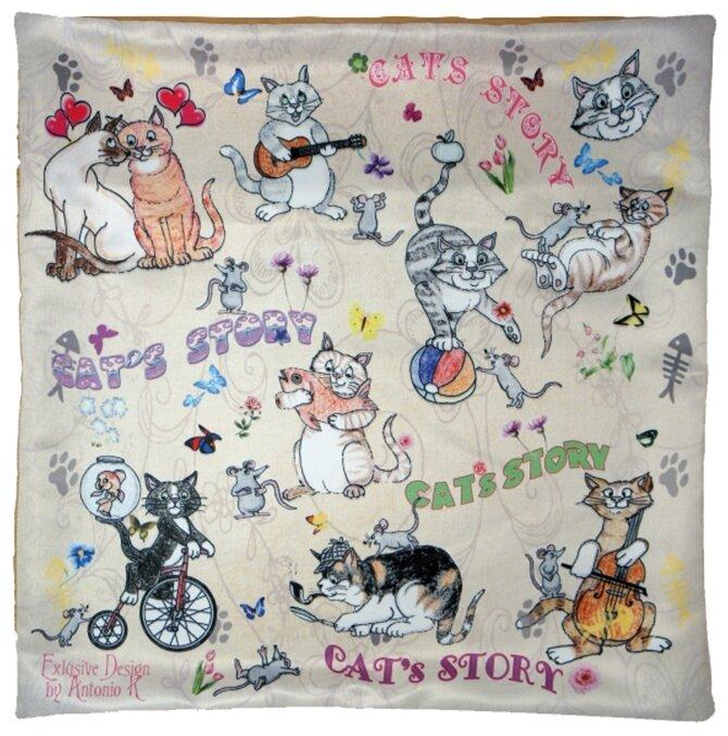 Gift'n'Home Чехол для подушки Gift n Home Веселые кошки 40х40 см (НВЛ-40 Cats)