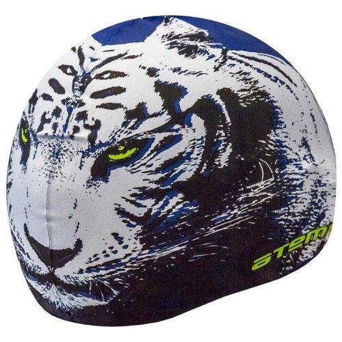 Шапочка для плавания ATEMI Тигр PSC425 синий 56-65 см аксессуар abus ugrip cable 560 560 65