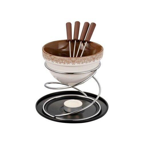 GIPFEL Набор для приготовления шоколадного фондю Minor на 4 персоны, 8 предметов коричневый