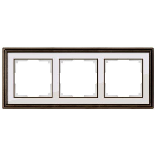 Фото - Рамка 3п WerkelWL17-Frame-03, бронза/белый рамка werkel antik бронза wl07 frame 02