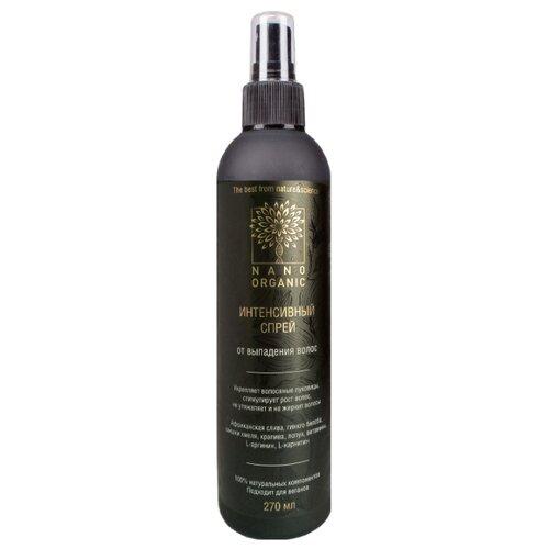 NanoOrganic Спрей от выпадения волос для кожи головы, 270 мл ducray неоптид лосьон от выпадения волос для мужчин 100 мл