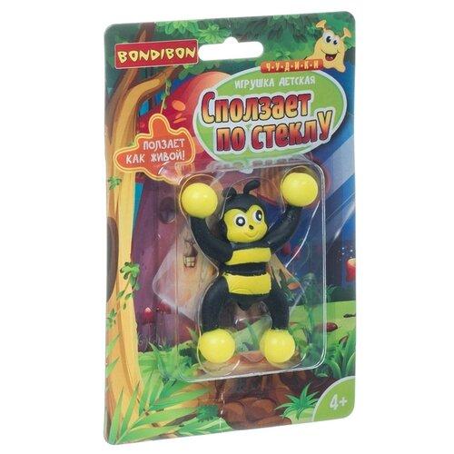 Чудики Bondibon Игрушка детская «СПОЛЗАЕТ ПО СТЕКЛУ», пчела, BLISTER