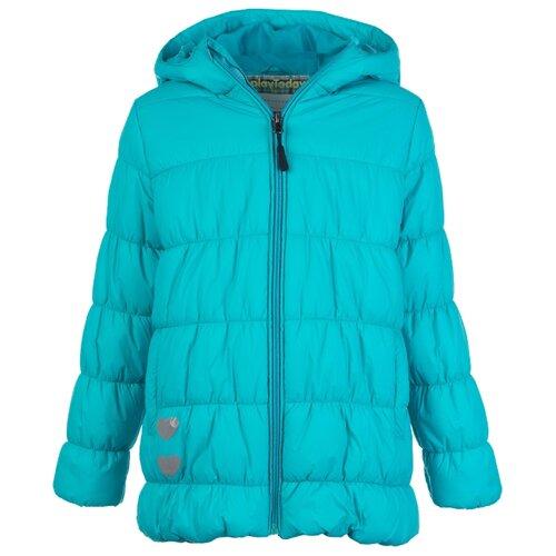 Купить Куртка playToday размер 104, голубой, Куртки и пуховики