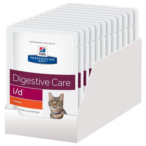Корм для кошек Hill's Prescription Diet при проблемах с ЖКТ, с курицей 12шт. х 85 г (кусочки в соусе)