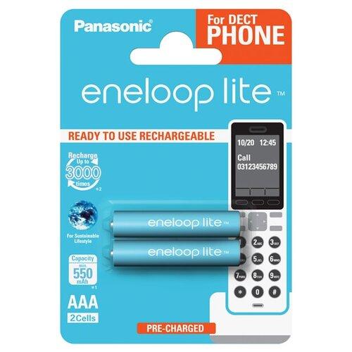 Фото - Аккумулятор Ni-Mh 550 мА·ч Panasonic eneloop lite DECT AAA 2 шт блистер аккумулятор smartbuy sbbr 3a02bl950 aaa 2 шт