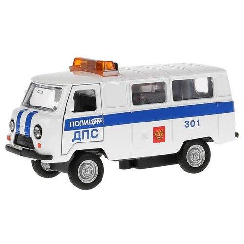Купить Микроавтобус ТЕХНОПАРК УАЗ 39625 Полиция ДПС (CT-1232WB-H) 1:43 11 см белый, Машинки и техника