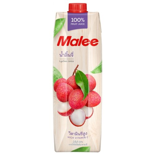 Сок Malee Личи, без сахара, 1 л malee напиток кокосовое молоко 0 33 л