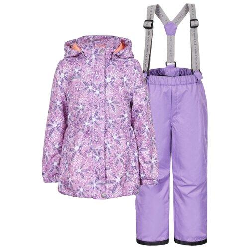 Комплект с брюками LUHTA 939010468 размер 116, сиреневый/серыйКомплекты верхней одежды<br>