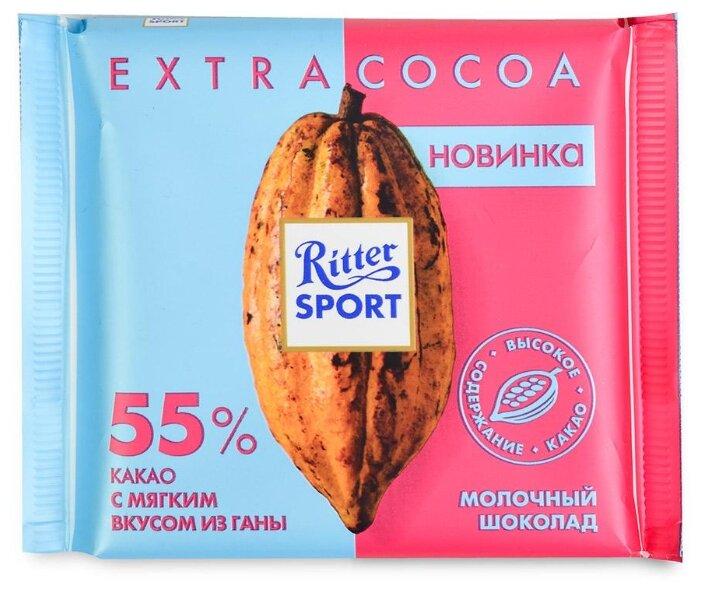 Шоколад Ritter Sport Extra Cocoa молочный 55% какао