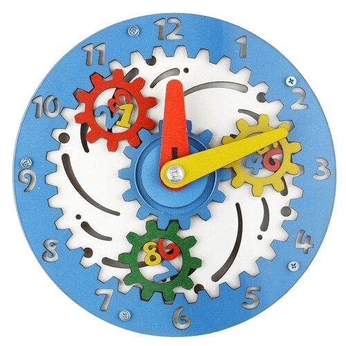 Развивающая игрушка Большой слон Чудо-часики голубой/белыйРазвитие мелкой моторики<br>