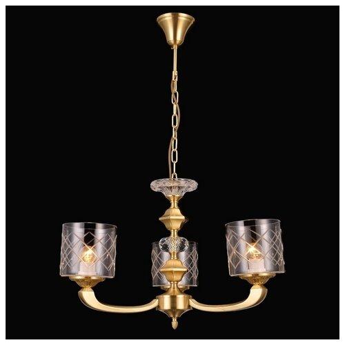 Люстра Natali Kovaltseva 75116/3C GOLD, E27, 120 Вт natali kovaltseva люстра классика natali kovaltseva vintage 11366 3c white gold