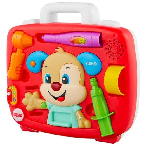 Купить Интерактивная развивающая игрушка Fisher-Price Смейся и учись. Медицинский осмотр Ученого Щенка (FTC79) красный, Развивающие игрушки
