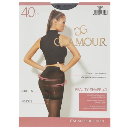 Колготки Glamour Beauty Shape 40 den, размер 2-S, nero (черный) колготки glamour thin body 2 40 den лёгкий загар