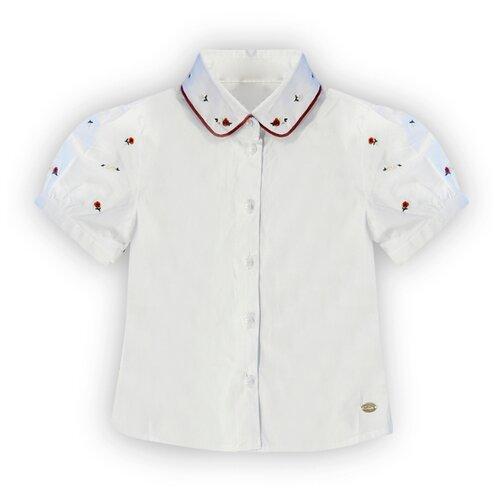 цена Блузка De Salitto размер 98, белый онлайн в 2017 году