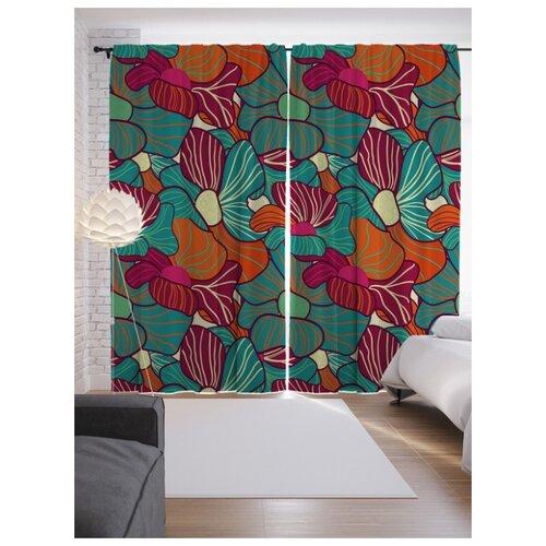 Портьеры JoyArty Цветы на ленте 265 см (p-43855)