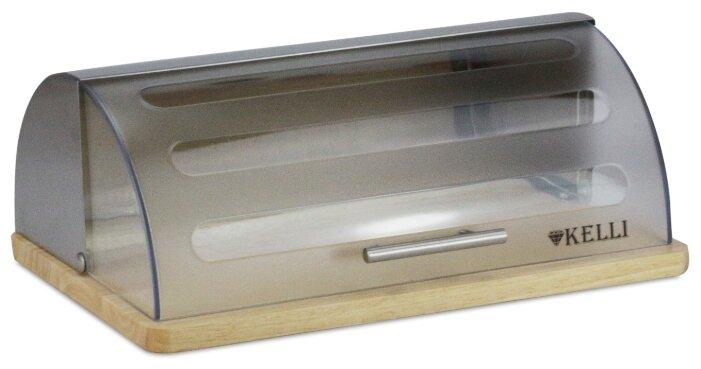Хлебница Kelli деревянная KL-2116 бежевый/серый