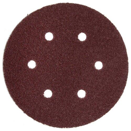 Шлифовальный круг на липучке ЗУБР 35566-150-080 150 мм 5 шт promoitalia нити с насечками из поликапролактона assufil beauty 5 шт 5 шт 23g 150 мм
