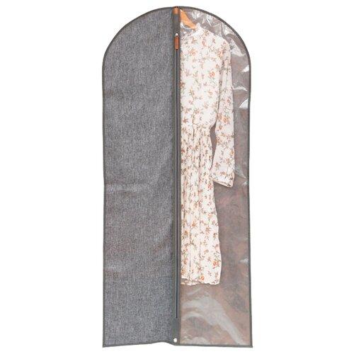 HAUSMANN Чехол для одежды Lady&Gentleman HM-6A-302 60х137 см серый