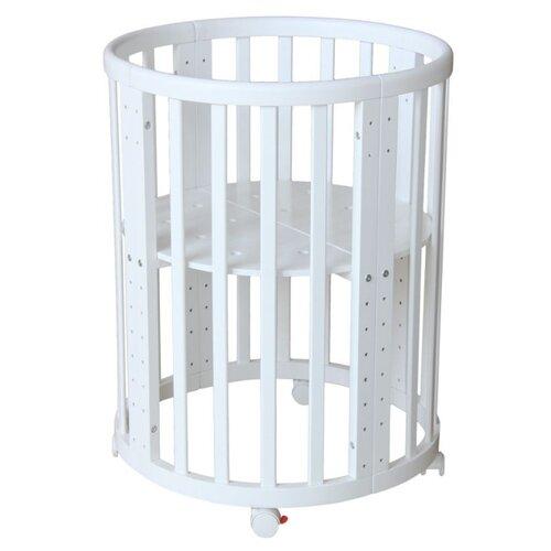 Кроватка Polini Simple 911 (трансформер) (качалка) белый кроватка jakomo teo 7 в 1 трансформер белый