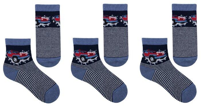 Купить Носки НАШЕ комплект 3 пары размер 20 (18-20), т.синий по низкой цене с доставкой из Яндекс.Маркета