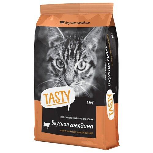 Корм для кошек Tasty Сухой корм с говядиной (0.35 кг)Корма для кошек<br>