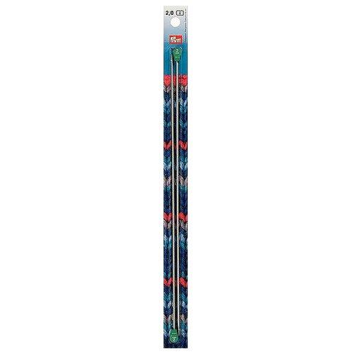 Спицы Prym алюминиевые Ergonomics, диаметр 2 мм, длина 30 см, жемчужно-серый