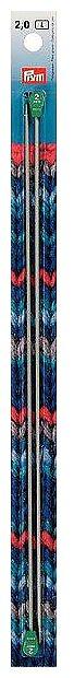 Спицы Prym алюминиевые Ergonomics диаметр 2 мм, длина 30 см