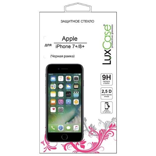 Защитное стекло LuxCase 2.5D FG для Apple iPhone 7 Plus/8 Plus черный аксессуар защитное стекло luxcase 0 33mm для apple iphone 8 7 6 6s 82061