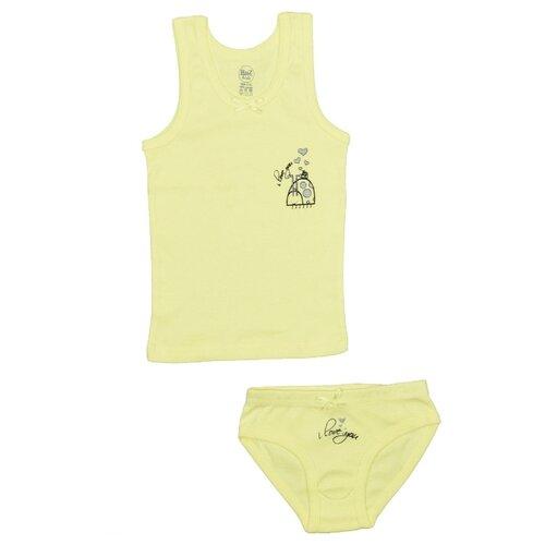 Комплект нижнего белья RuZ Kids размер 140-146, желтый, Белье и купальники  - купить со скидкой